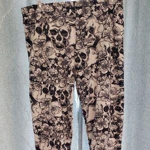 Fuzzy Skull leggings